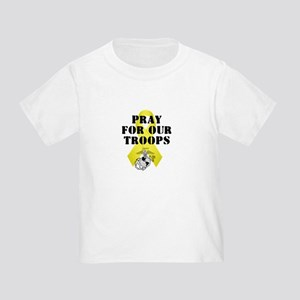 Pray for Our Troops Yellow Ribbon USMC Semper Fi T