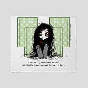My Own Little World Throw Blanket