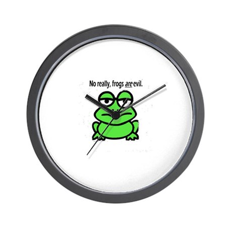 evil frog Wall Clock