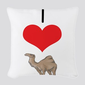 heart-camel Woven Throw Pillow