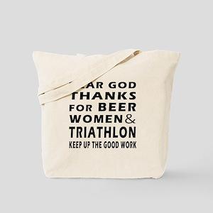 Beer Women And Triathlon Tote Bag