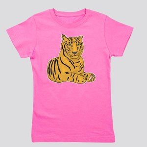 tiger-laying,png Girl's Tee