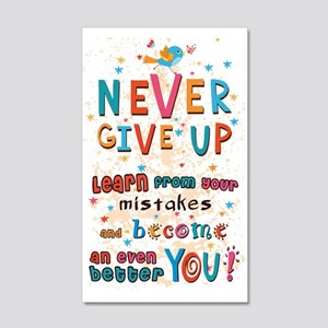 Never Give Up 20x12 Wall Decal