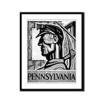 Pennsylvania Coal WPA 1938 Framed Panel Print