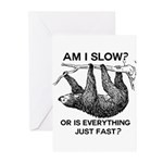 Sloth Am I Slow? Greeting Cards (Pk of 20)