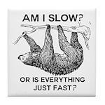 Sloth Am I Slow? Tile Coaster