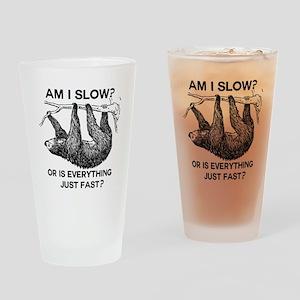 Sloth Am I Slow? Drinking Glass