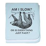 Sloth Am I Slow? baby blanket