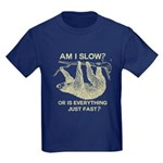 Sloth Am I Slow? Kids Dark T-Shirt