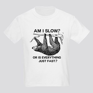 Sloth Am I Slow? Kids Light T-Shirt