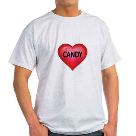 Red heart with CANDY T-Shirt