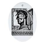 Pennsylvania Coal WPA 1938 Oval Ornament