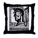 Pennsylvania Coal WPA 1938 Throw Pillow