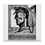 Pennsylvania Coal WPA 1938 Tile Coaster