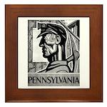 Pennsylvania Coal WPA 1938 Framed Tile