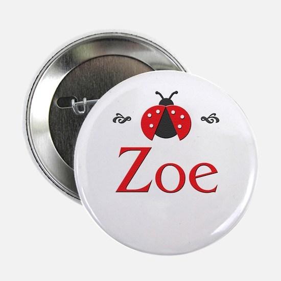 Red LadyBug - Zoe Button