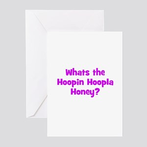 Whats the Hoopin Hoopla Honey Greeting Cards (Pack