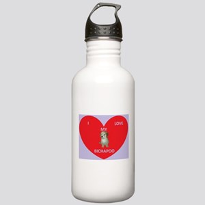 I LOVE MY BICHAPOO Water Bottle