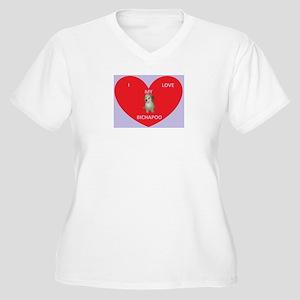 I LOVE MY BICHAPOO Plus Size T-Shirt