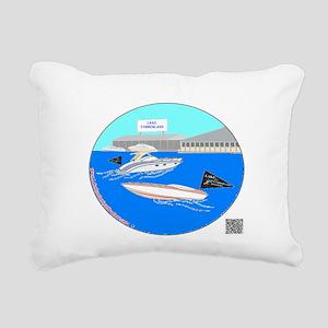 Color Boats Rectangular Canvas Pillow