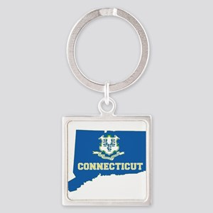 Connecticut Flag Square Keychain