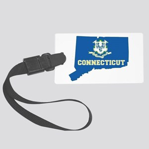 Connecticut Flag Large Luggage Tag