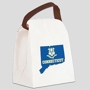 Connecticut Flag Canvas Lunch Bag
