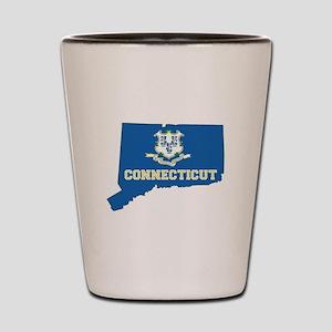 Connecticut Flag Shot Glass
