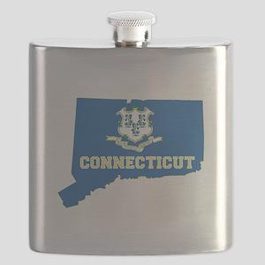 Connecticut Flag Flask