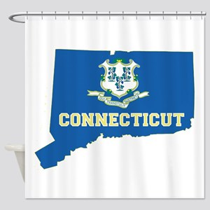 Connecticut Flag Shower Curtain