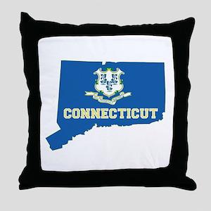 Connecticut Flag Throw Pillow