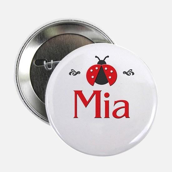 Red LadyBug - Mia Button