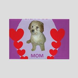 BICHAPOO MOM w/HEARTS Rectangle Magnet