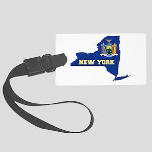 New York Flag Large Luggage Tag
