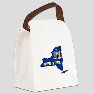 New York Flag Canvas Lunch Bag
