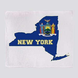New York Flag Throw Blanket