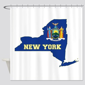 New York Flag Shower Curtain