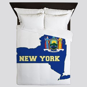 New York Flag Queen Duvet