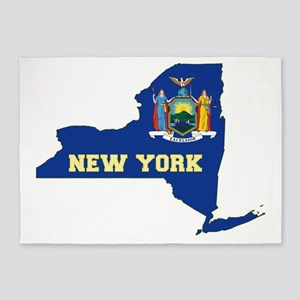 New York Flag 5'x7'Area Rug