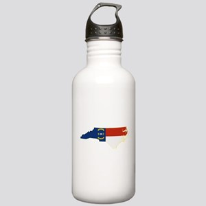 North Carolina Flag Stainless Water Bottle 1.0L