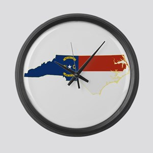 North Carolina Flag Large Wall Clock