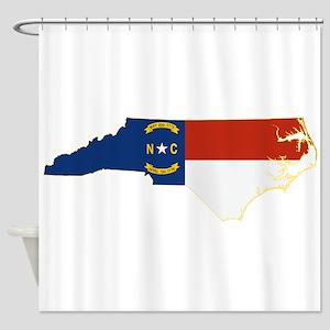 North Carolina Flag Shower Curtain