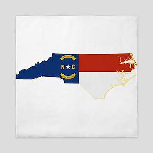 North Carolina Flag Queen Duvet