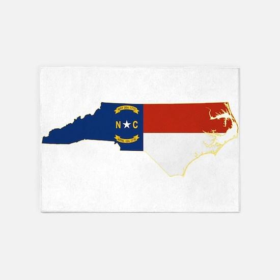 North Carolina Flag 5'x7'Area Rug