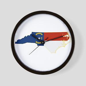 North Carolina Flag Wall Clock