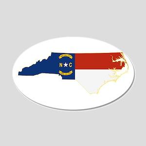 North Carolina Flag 20x12 Oval Wall Decal