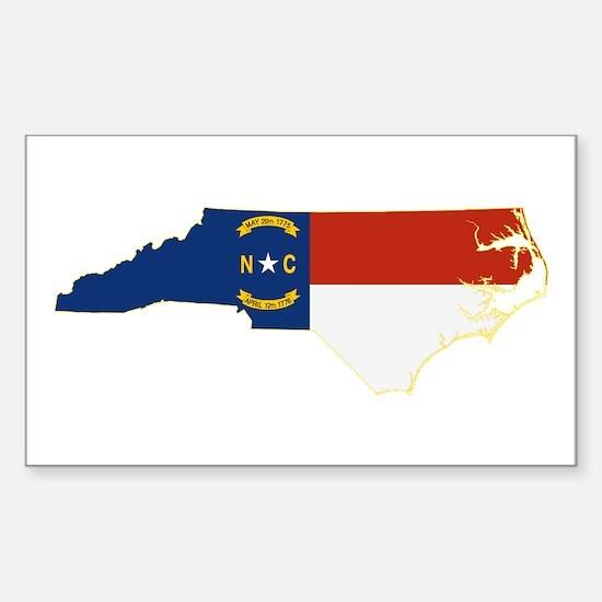 North Carolina Flag Sticker (Rectangle)