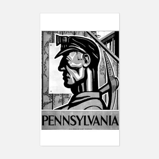 Pennsylvania Coal WPA 1938 Rectangle Decal