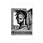 Pennsylvania Coal WPA 1938 Rectangle Sticker