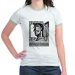 Pennsylvania Coal WPA 1938 Jr. Ringer T-Shirt